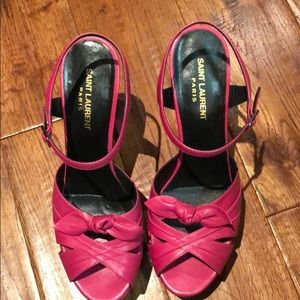 Yves Saint Laurent hi heels pink shoes barely used